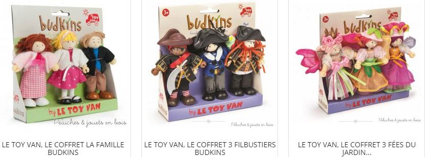 Dans la collection Budkins de la marque le Toy Van, la famille de Sophie, les flibustiers et les fées du jardin, il y en a pour tous les gouts :)