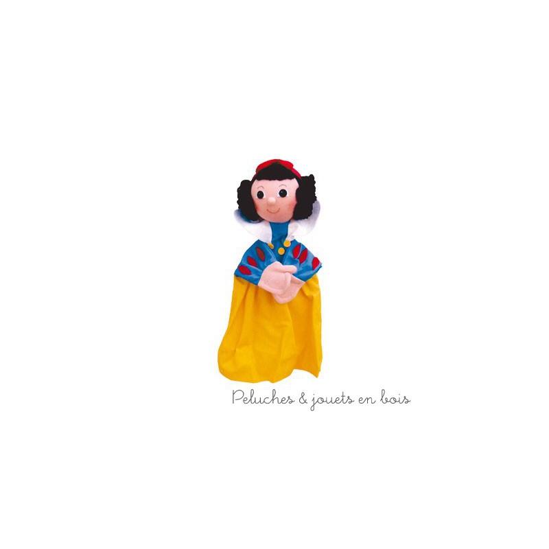 Marionnette personnage Blanche Neige, signée Animascena - Le Coin des enfants, marionnette à main en tissu avec une tete dure idéale pour permettre aux enfants de créer des spectacles en reprenant les contes les plus celebres dans leur petit théâtre de marionnettes. Dimensions : 27 x 15 x 8,5 cm A partir de 4 ans+
