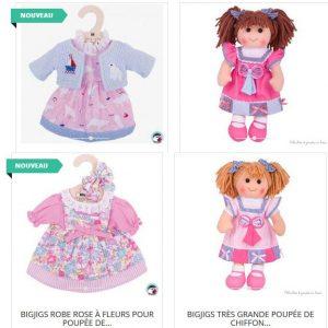 Une gamme de vêtement taille 35 cm existe en vente dans la boutique pour cette poupée avec les références suivantes : BJD517, BJD520.