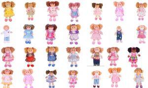 Collection des poupées de chiffon de la marque Bigjigs disponibles sur Peluches et Jouets en bois
