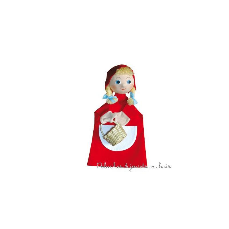 Marionnette personnage Le Petit Chaperon Rouge, signée Animascena - Le Coin des enfants, marionnette à main en tissu avec une tete dure idéale pour permettre aux enfants de créer des spectacles en reprenant les contes les plus celebres dans leur petit théâtre de marionnettes. Dimensions : 27 x 15 x 8,5 cm A partir de 4 ans+