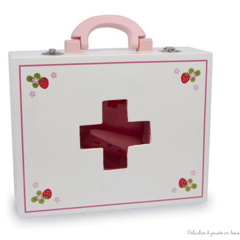 Valise de docteur Isabelle jouet d'imitation en bois