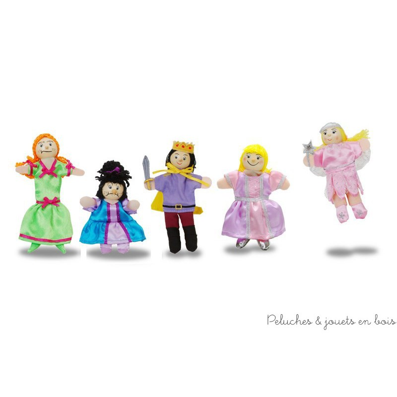 """Un coffret de marionnettes à doigt """"Cendrillon"""" de la marque Fiesta Craft. A partir de 3 ans+"""