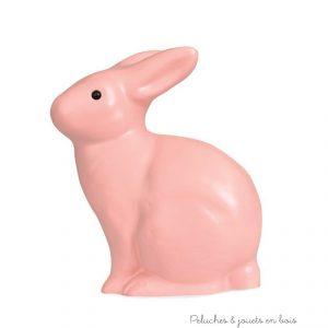 Une grande lampe veilleuse Lapin rose de la marque Egmont Toys. Cet objet de décoration de chambre d'enfant n'est pas considéré comme un jouet. En PVC garanti sans phthalates, tous âges.