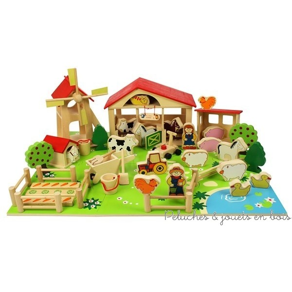 Bijigs Petite ferme en bois 48 pièces