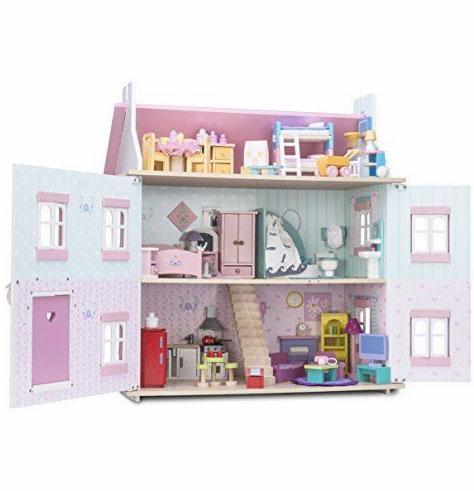 Offre Spéciale 2 packs de meubles Daisylane offerts : La salle de bain + La chambre des enfants (Me053, Me061) pour l'achat de la Maison de Sophie ref H104 entierement meublée comprenant 4 packs de meubles collection Daisylane Me056, Me057, Me058, Me059