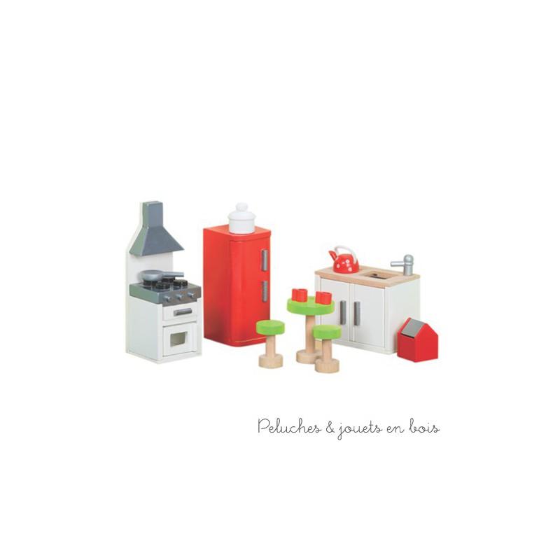 Le Toy Van, La cuisine Sugar Plum rouge Meubles pour maison de poupée