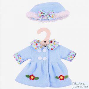 Bigjigs Manteau et chapeau bleu ciel pour Poupée de chiffon 30 cm