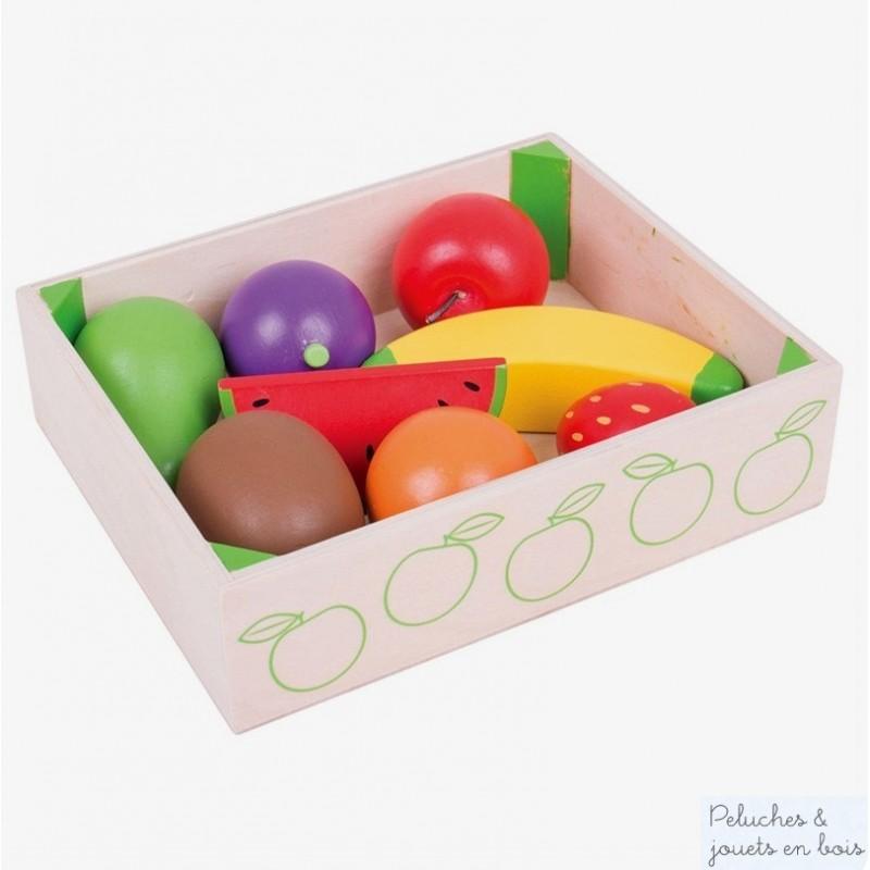Caisse de Fruits en bois pour jouer à la marchande Dinette Bigjigs BJ476