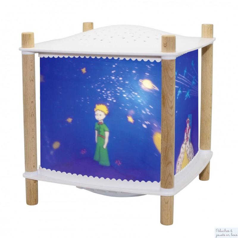 """La lanterne magique musicale """"Petit Prince"""" Bluetooth de Trousselier """"Révolution 2.0"""" = Lanterne avec fonction de veilleuse nomade, et projecteur d'étoiles, musicale, détecteurs de pleurs et bluetooth sur le thème du Petit Prince A partir de 0m+"""