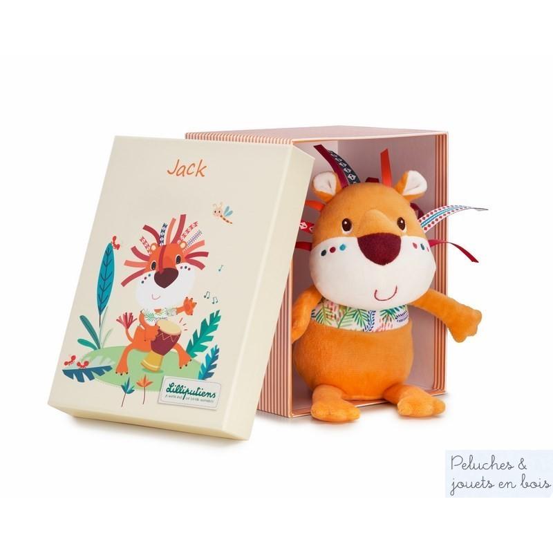Une adorable peluche câline Jack le Lion de la marque Lilliputiens. Il fera un très beau cadeau grâce à sa jolie boite et sera très vite le meilleur ami de son petit propriètaire. A partir de 0 mois+