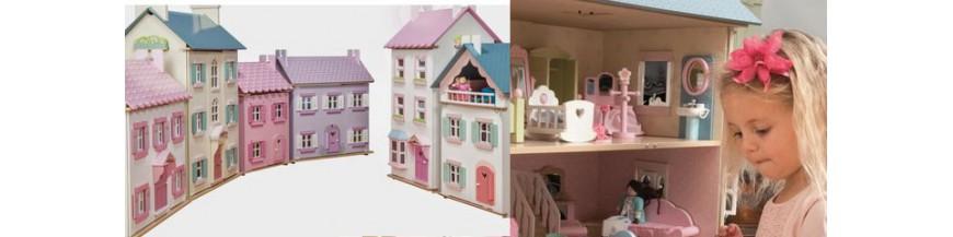 Maison poupée en bois, Famille de poupées, Meubles et Acc.