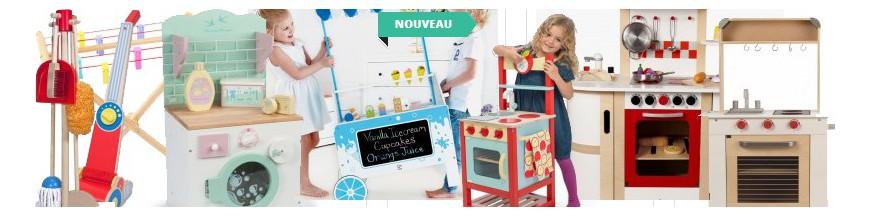 Cuisine en bois jouet, électro-ménager & équipement