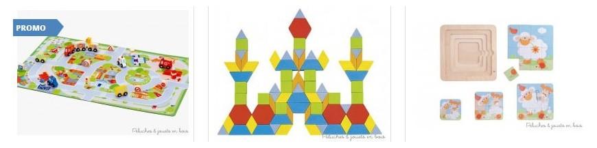 Puzzle en bois, Mémo, Loto, Domino
